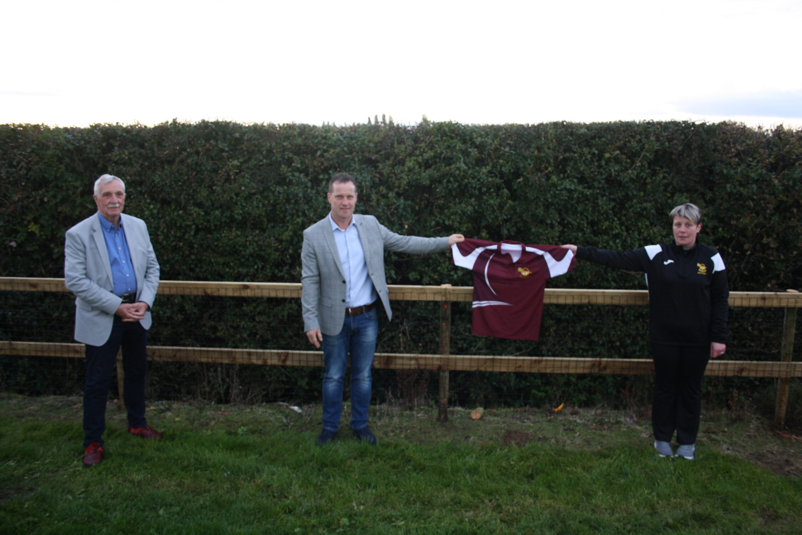 Chairman of Tipperary County Council Michael Smith secures funding for project at club.